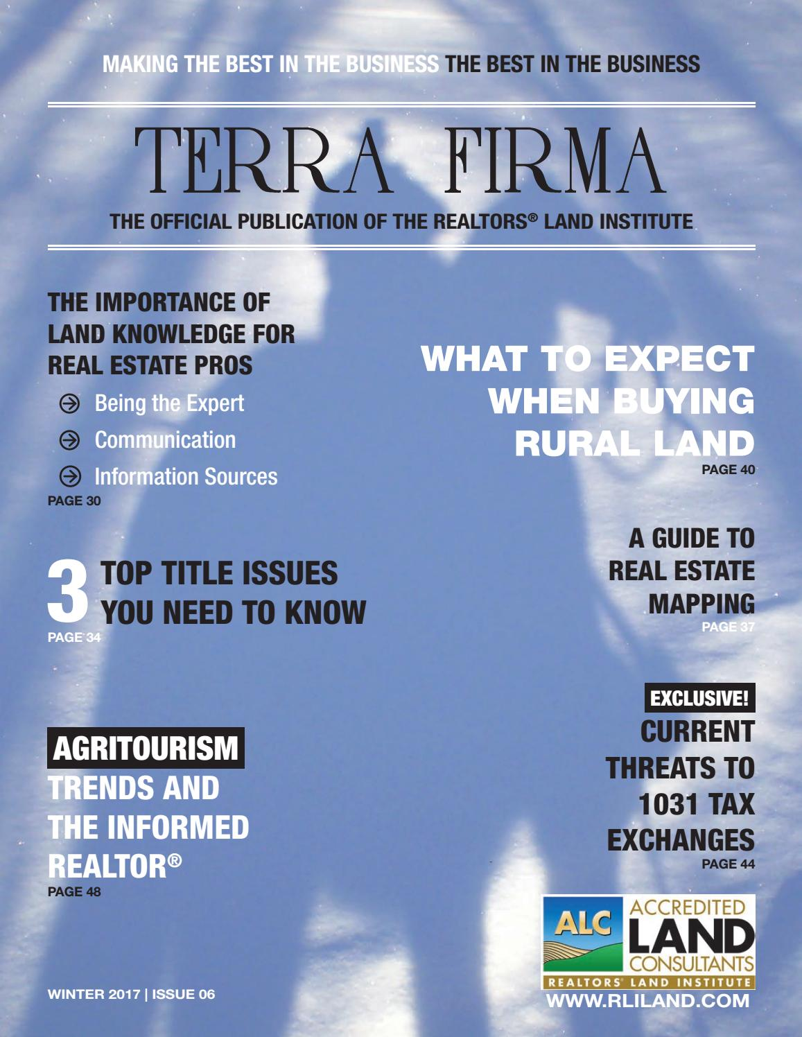 2017 Terra Firma Winter by REALTORS® Land Institute issuu