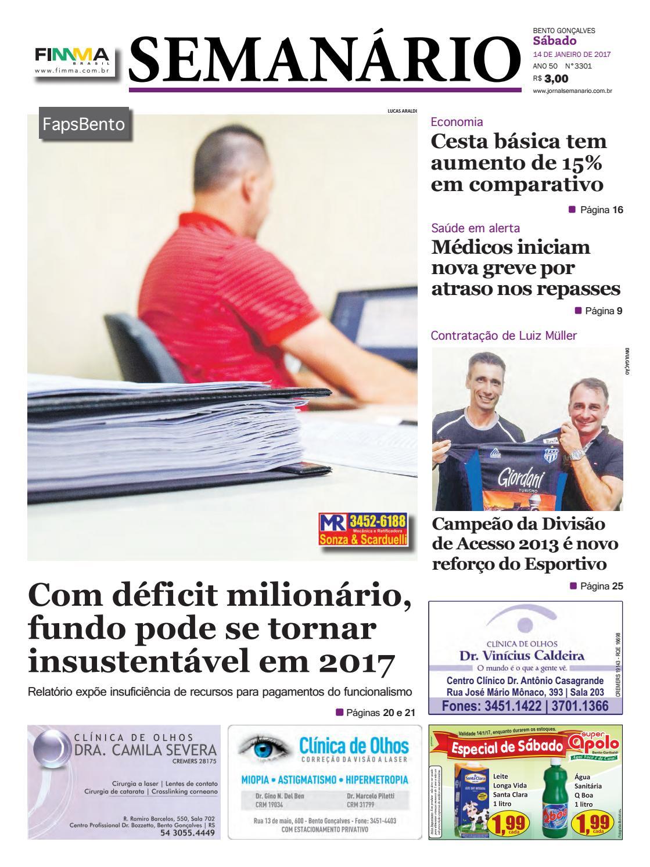 3f244e64737b7 Jornal Semanário - 14 01 2017 - Edição 3301 by Jornal Semanário - Bento  Gonçalves - RS - issuu