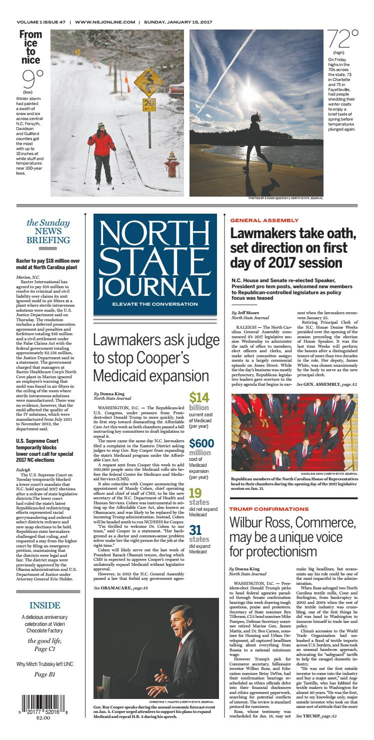 North State Journal — Vol 1 , Issue 47 by North State