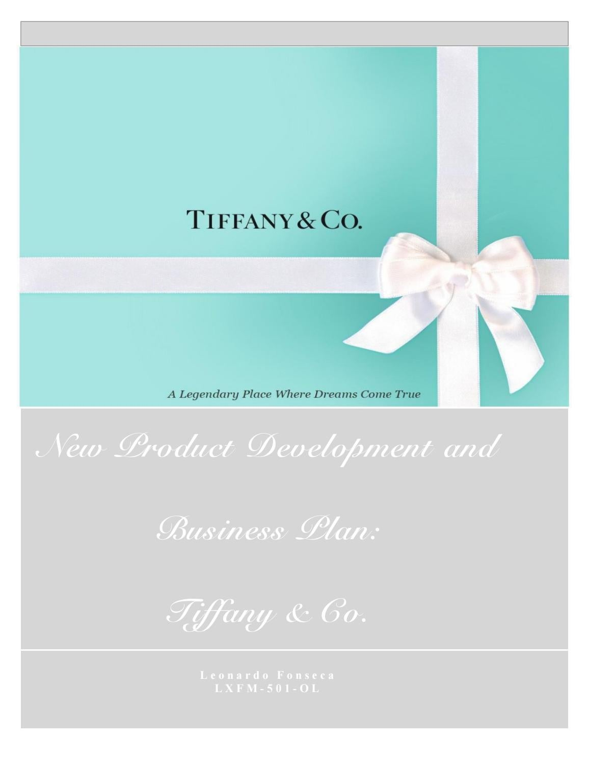 New Product Development and Business Plan for Tiffany & Co. by Leo ...