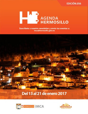 "Cover of ""Agenda Hermosillo 13 ene 2017"""