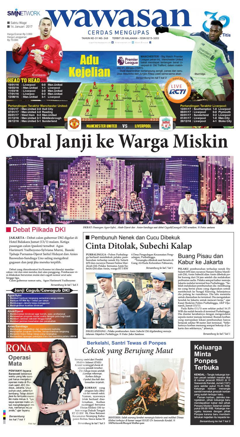 Wawasan 14 Januari 2017 By Koran Pagi Issuu Produk Ukm Bumn Batik Tulis Babon Angrem