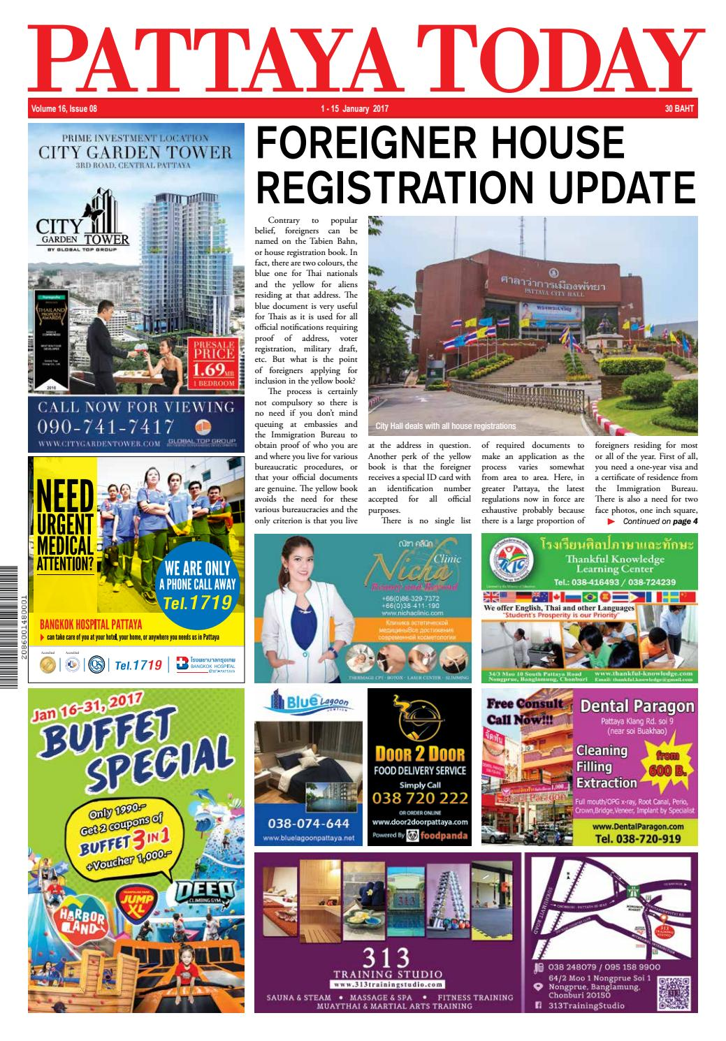 Pattaya Today Vol 16 Issue 08 - 1-15 January 2017 by Pattaya