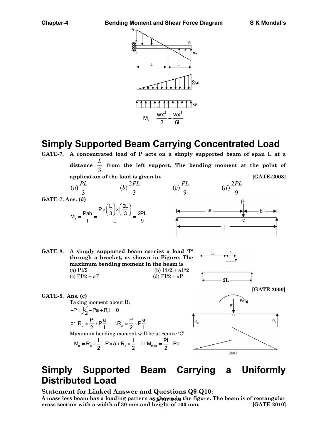 Strength Of Materials By S K Mondal Pdf Sdharmaraj Issuu Bending And Shear Force Diagrams
