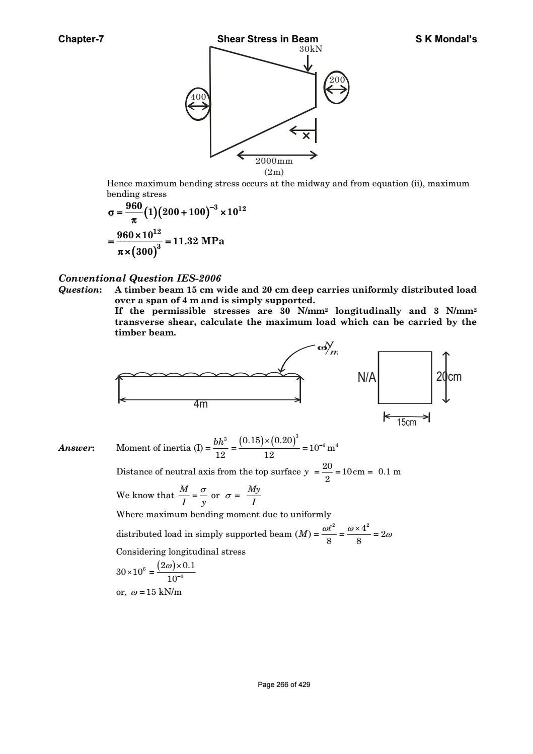 Strength Of Materials By S K Mondal Pdf Sdharmaraj Issuu Moment Diagram For Uniformly Distributed Load On Simply Supported Beam