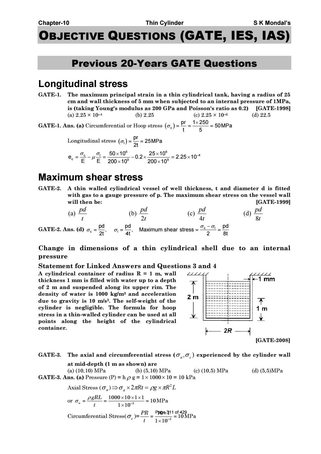 Strength of materials by s k mondal pdf by S Dharmaraj - issuu
