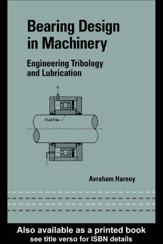 Bearing design in machinery avraham harnoy 2 1 499 by sdharmaraj page 1 fandeluxe