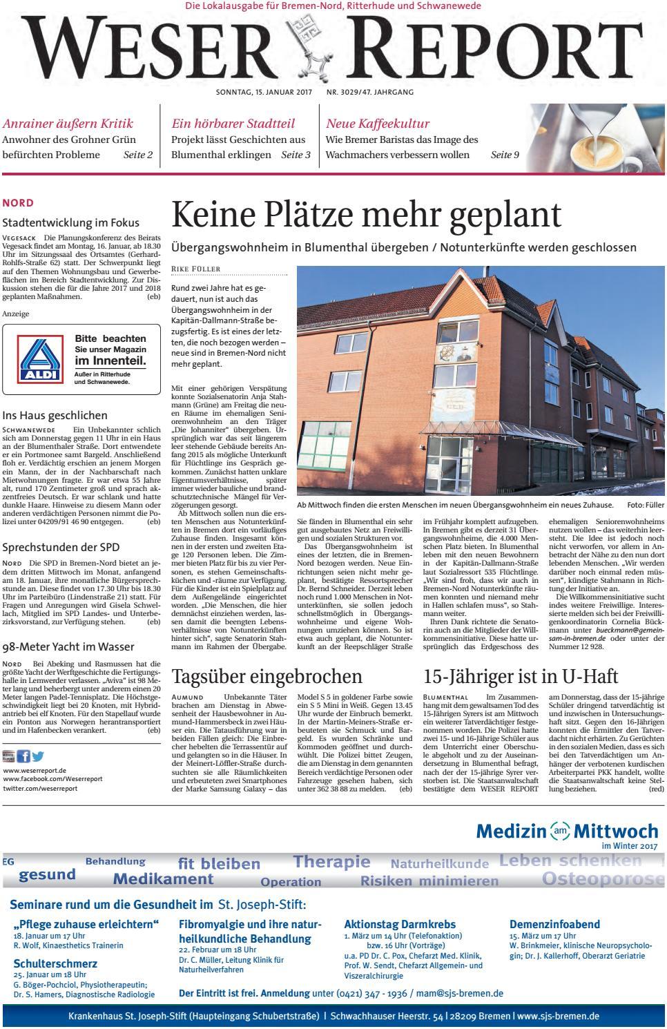 Weser Report - Nord vom 15.01.2017 by KPS Verlagsgesellschaft mbH ...