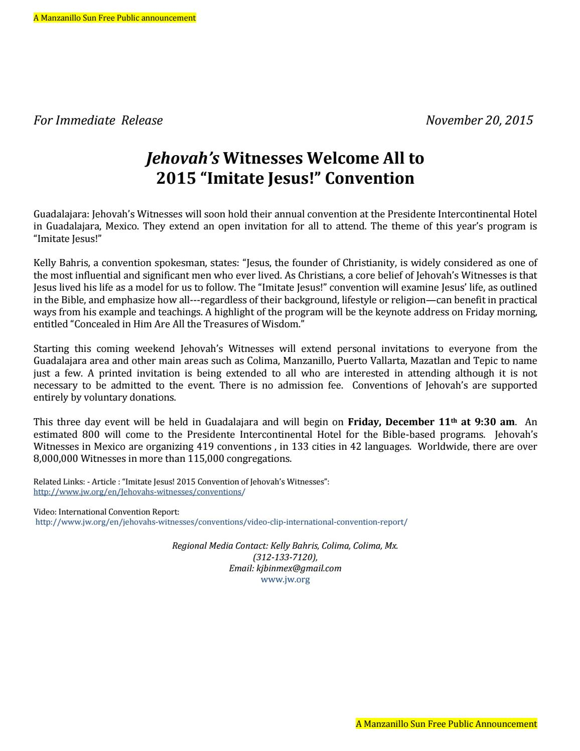 Jw Org Convention Invitation - Letter BestKitchenView CO