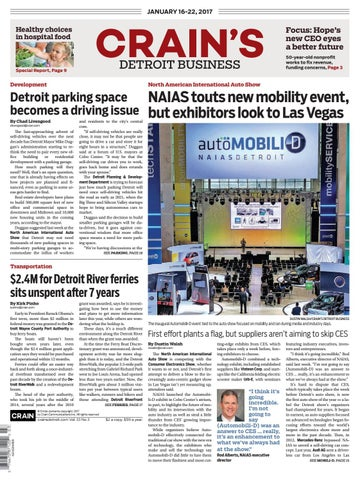 Crain's Detroit Business, Jan  16, 2017 issue by Crain's Detroit