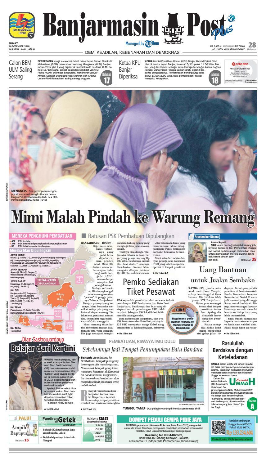 Bp20161216 By Banjarmasin Post Issuu Kue Ulat Sutra Febby Cookies Pal