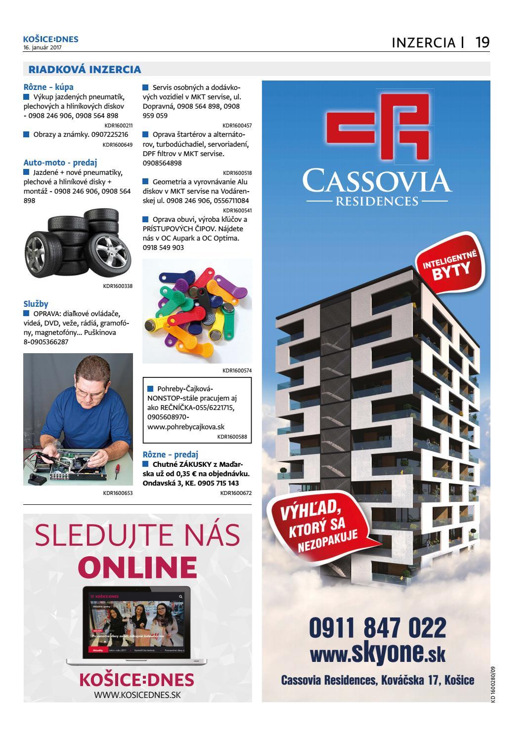 deb893471c4f KOŠICE DNES 16.1.2017 by KOŠICE DNES - issuu