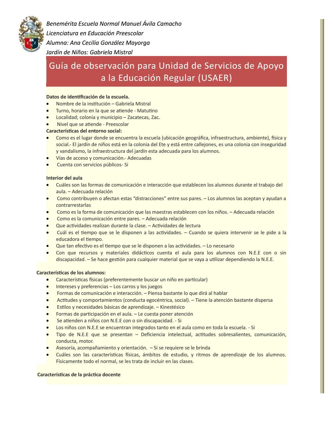 Guia de observacion del jardin by ana cecilia gonzalez mayorga - issuu