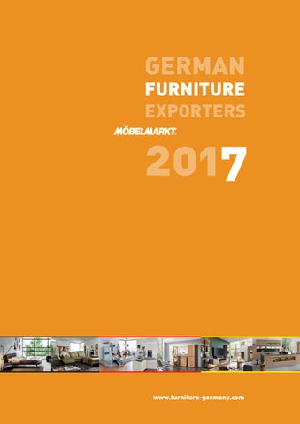 German Furniture Exporters 2017 By Verlag Matthias Ritthammer Gmbh
