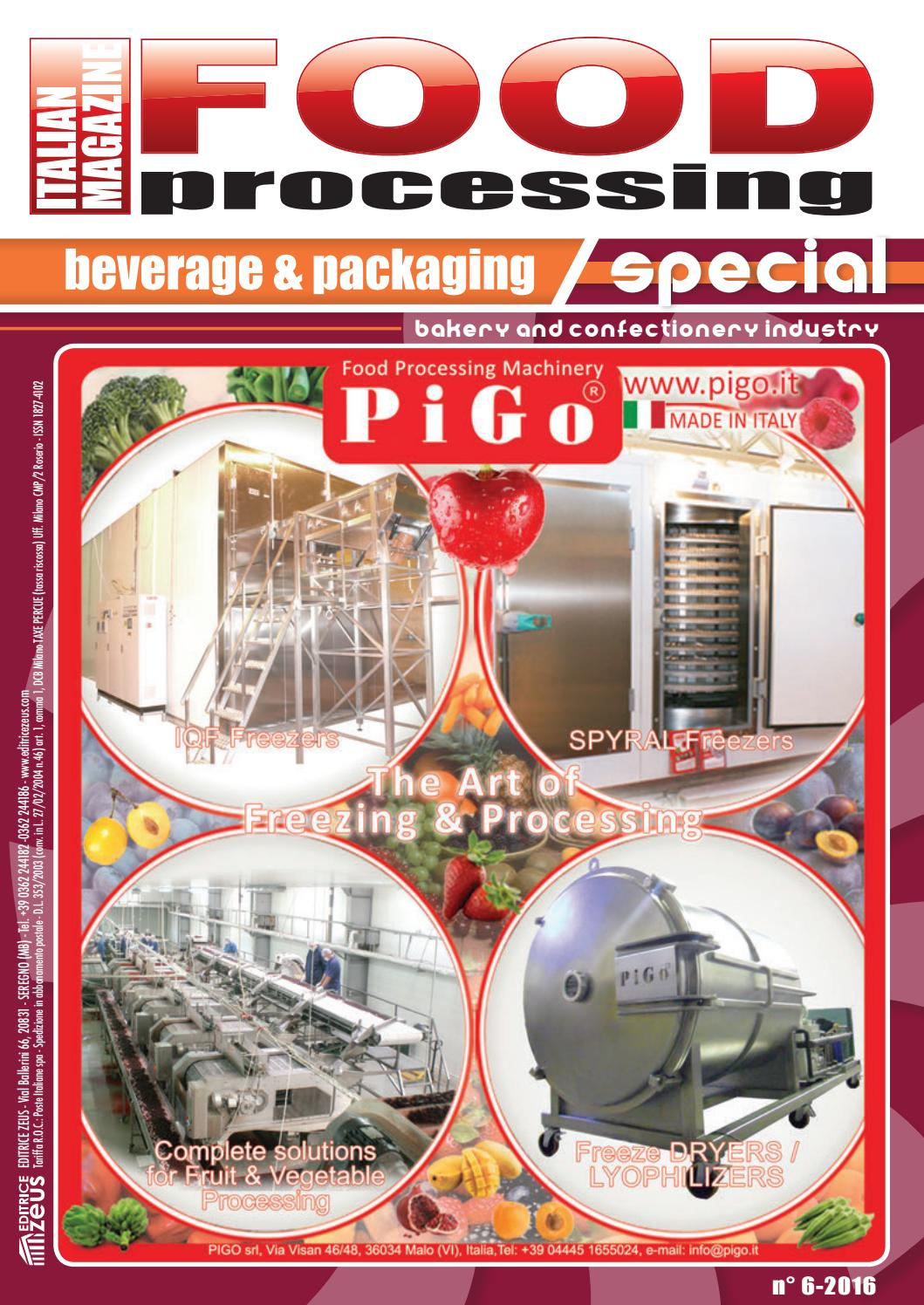Food Processing 2016 6 By Editrice Zeus Issuu