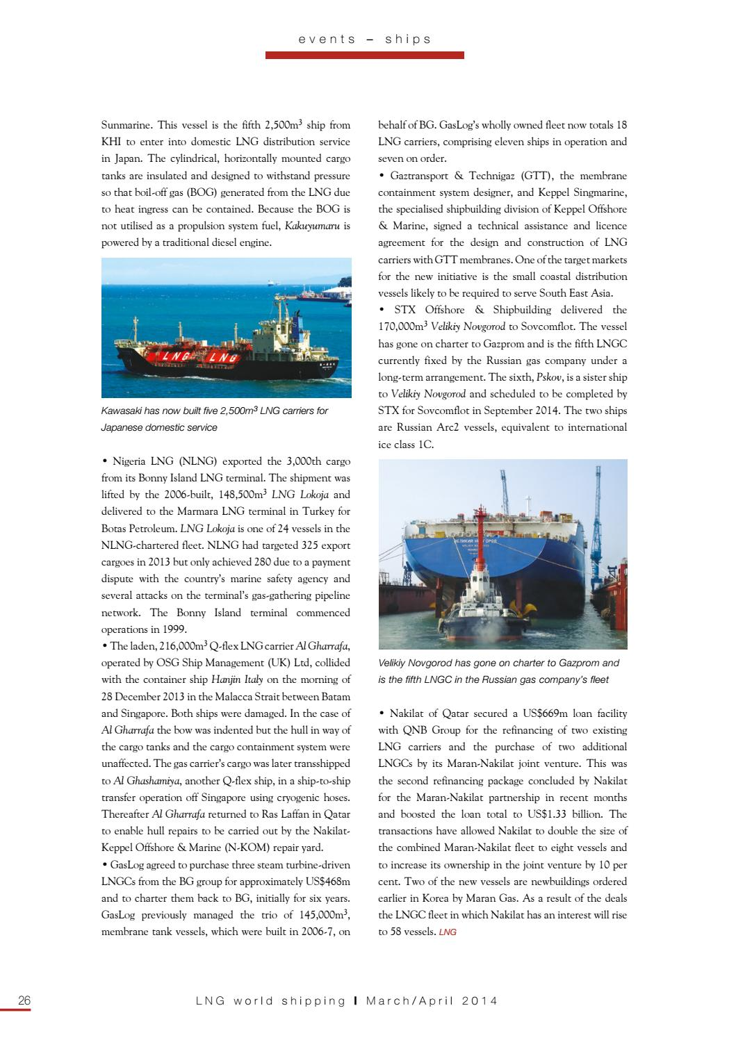 LNG World Shipping March/April 2014 by rivieramaritimemedia