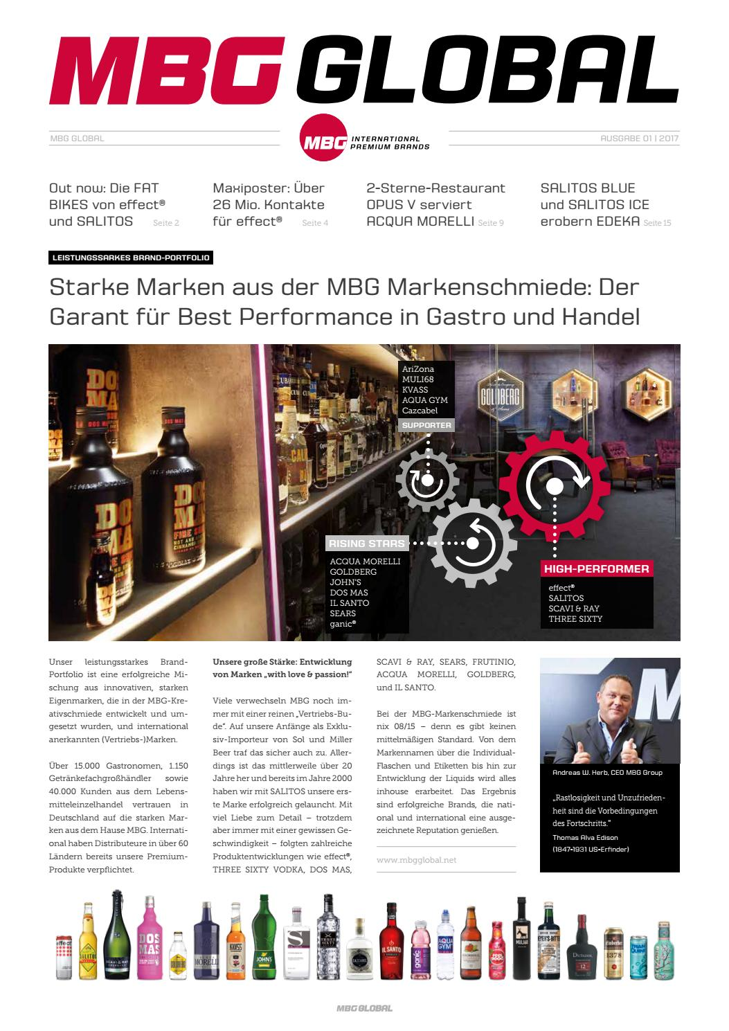 MBG Global Edition 01 - 2017 by MBG International Premium Brands - issuu