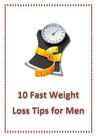 10 fast weight loss tips for men by Teeradech - issuu