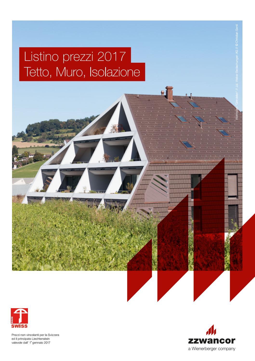 Listino prezzi 2017 tetto muro isolazione pdf by - Materiale isolante per tetti ...