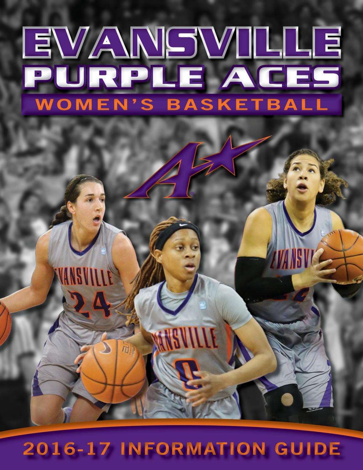 2016 17 evansville women u0027s basketball info guide by ue sports