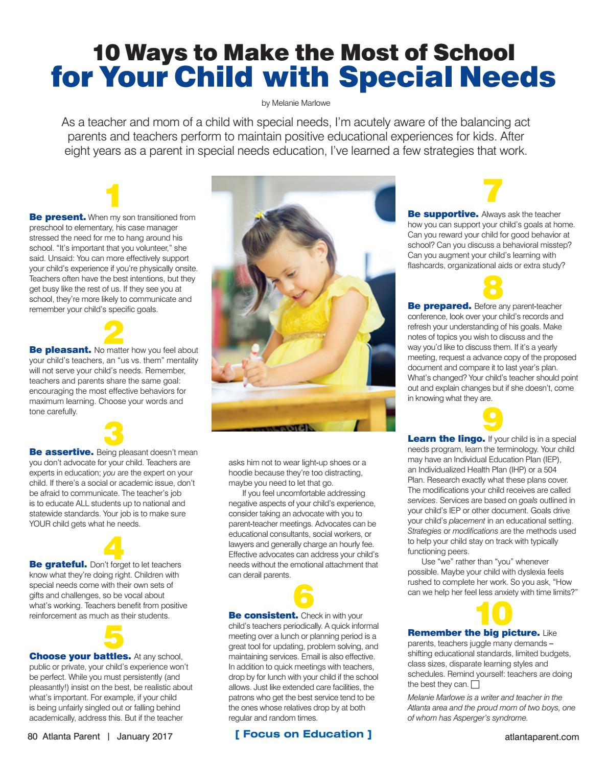 Dont Let Special Needs Students Fall >> January 2017 By Atlanta Parent Issuu