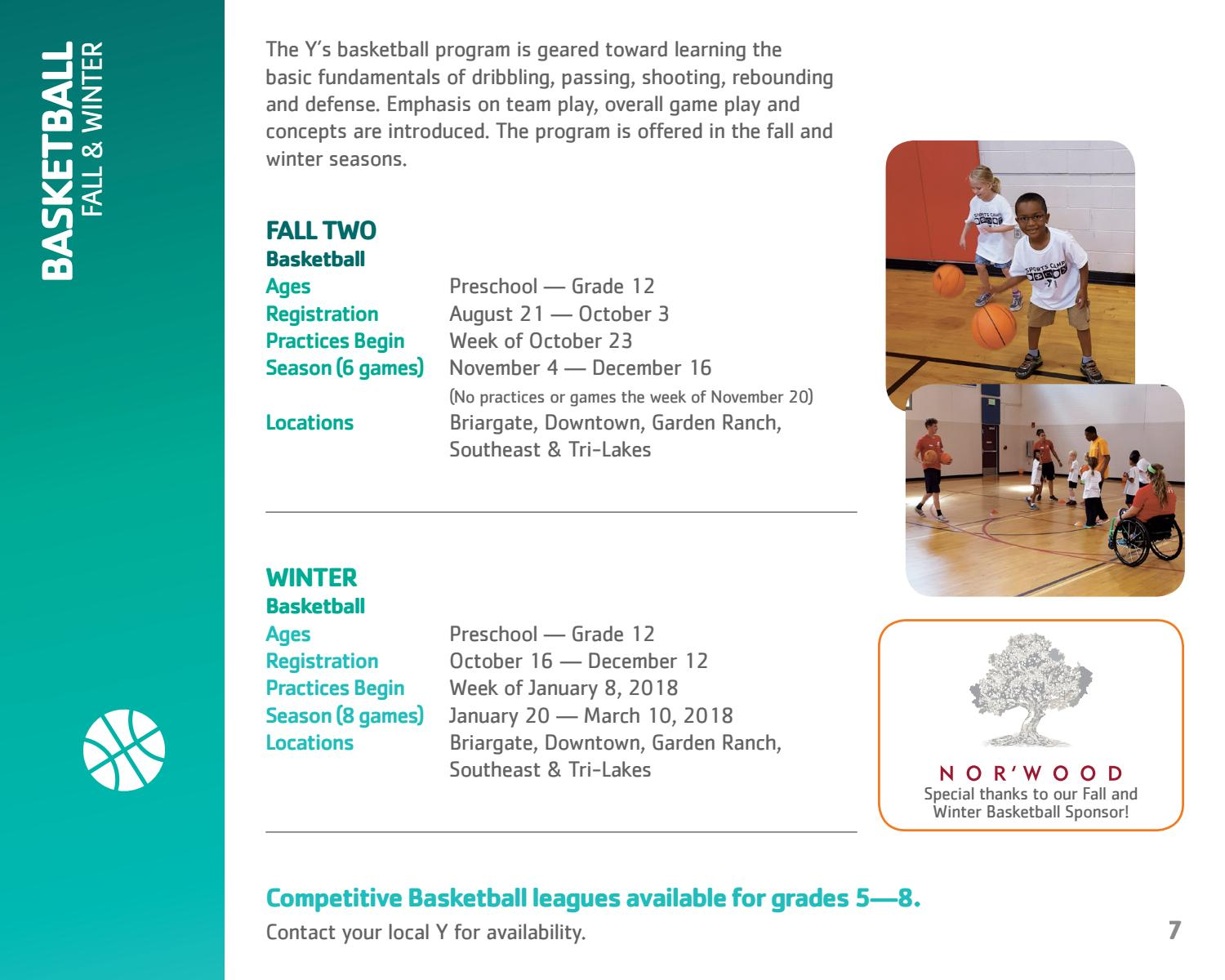 2017 youth sports brochure by ymca of the pikes peak region issuu