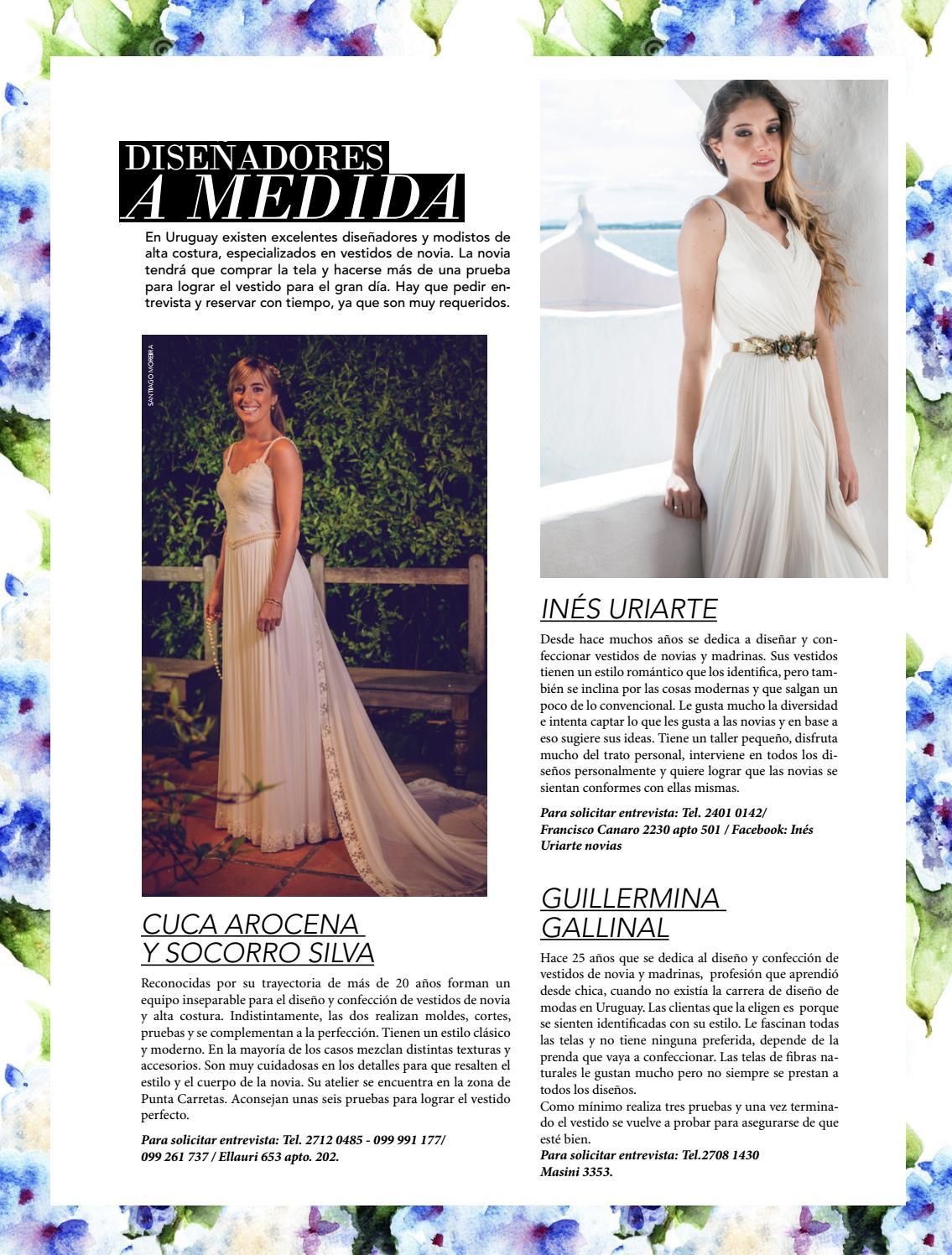 Disenadores de vestidos de novia en uruguay