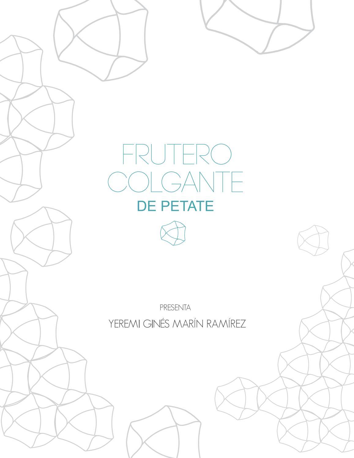 frutero colgante Frutero Colgante De Petate Yeremi Gins Marn Ramrez By