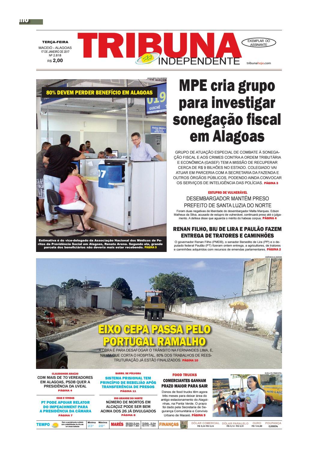 Edição número 2818 - 17 de janeiro de 2017 by Tribuna Hoje - issuu 9488067c98542