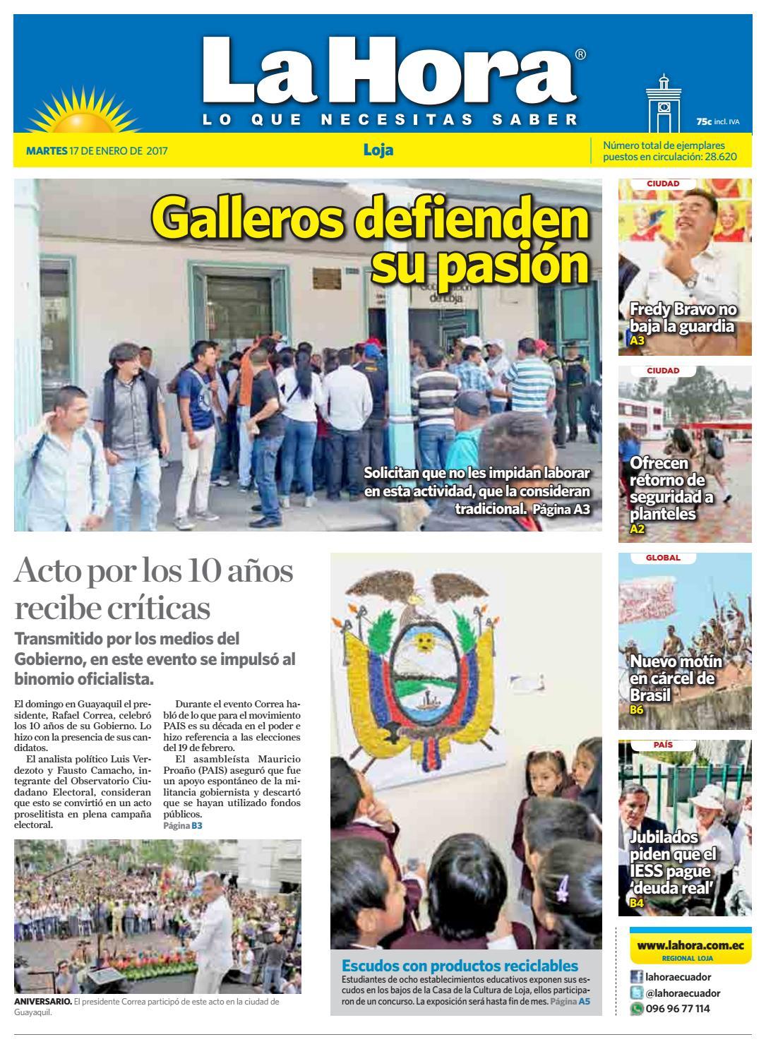 f777d4064 Diario La Hora Loja 17 de Enero 2017 by Diario La Hora Ecuador - issuu