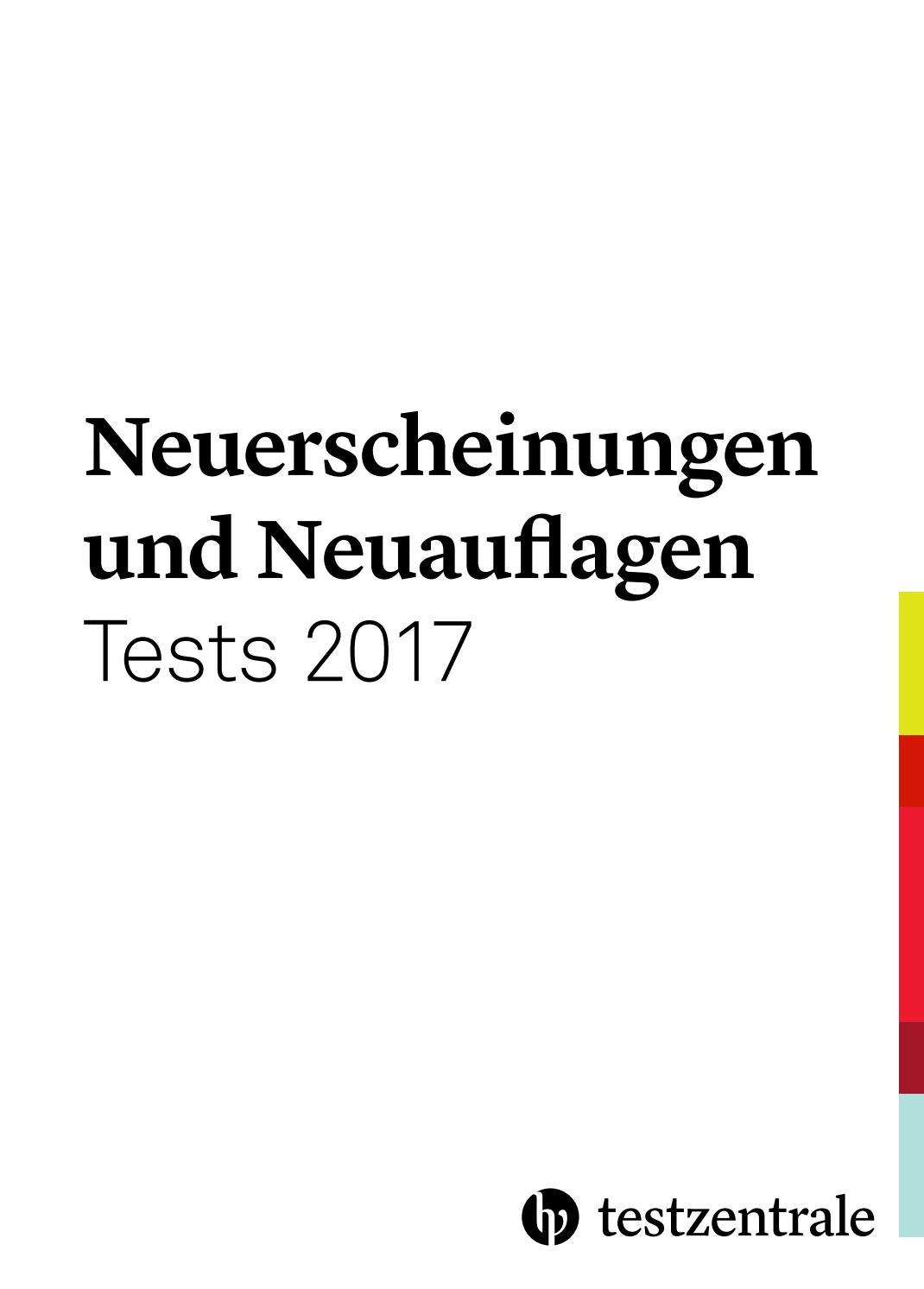 Neuerscheinungen und Neuauflagen Tests 2017 by Hogrefe - issuu