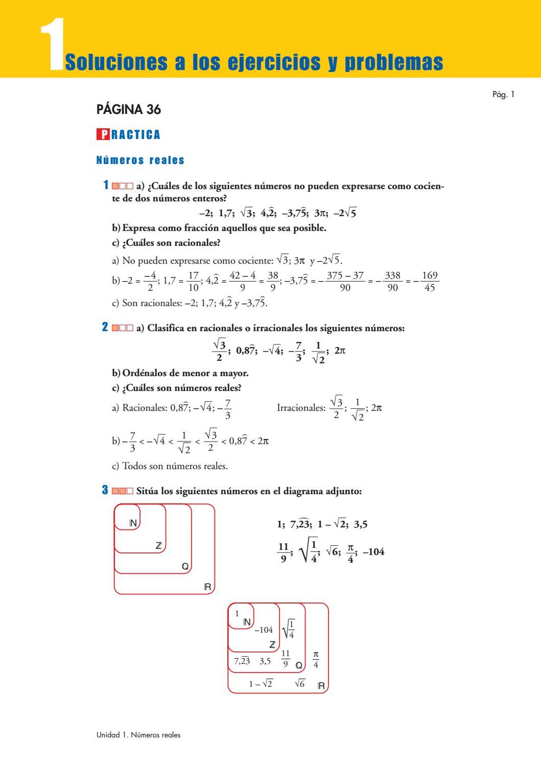 Problemas solucionados libro matematicas 3 eso by Alberto A - issuu