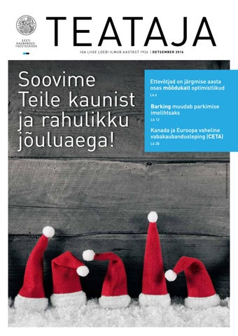 3dc51c04186 Teataja 12 2016 by Eesti Kaubandus-Tööstuskoda / Estonian Chamber of ...