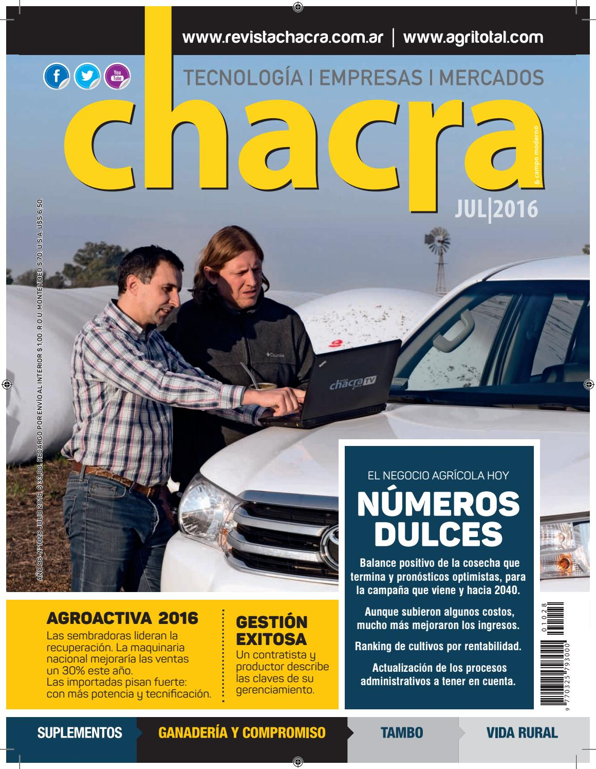 Revista Chacra Nº 1028 - Julio 2016 by Revista Chacra - issuu