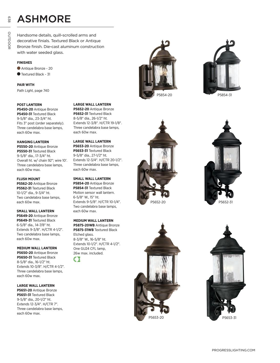 Progress Ashmore 2-Light Wall Lantern Water Seeded Glass Antique Bronze P5649-20