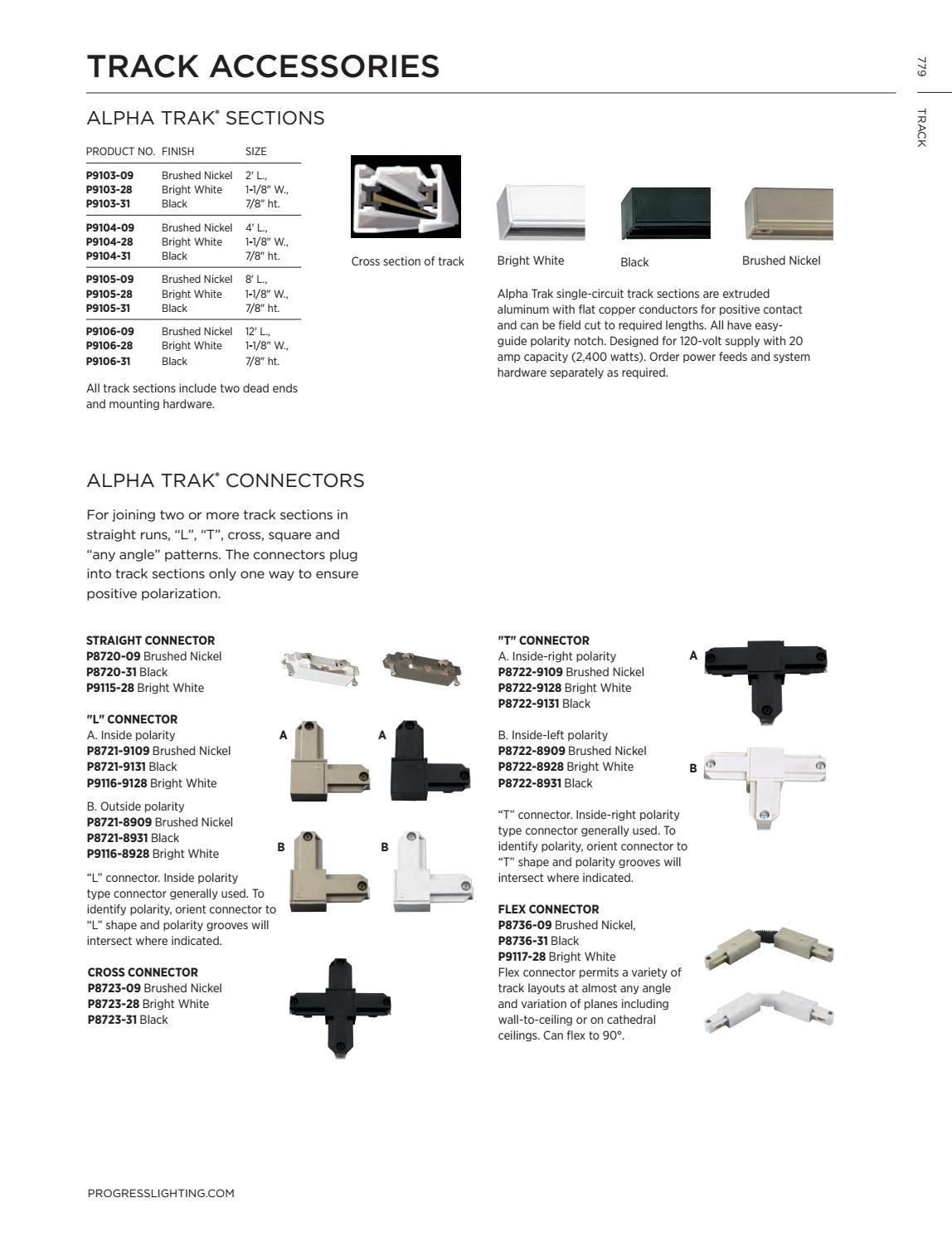 Black Progress Lighting P9105-31 Alpha Trak Sections