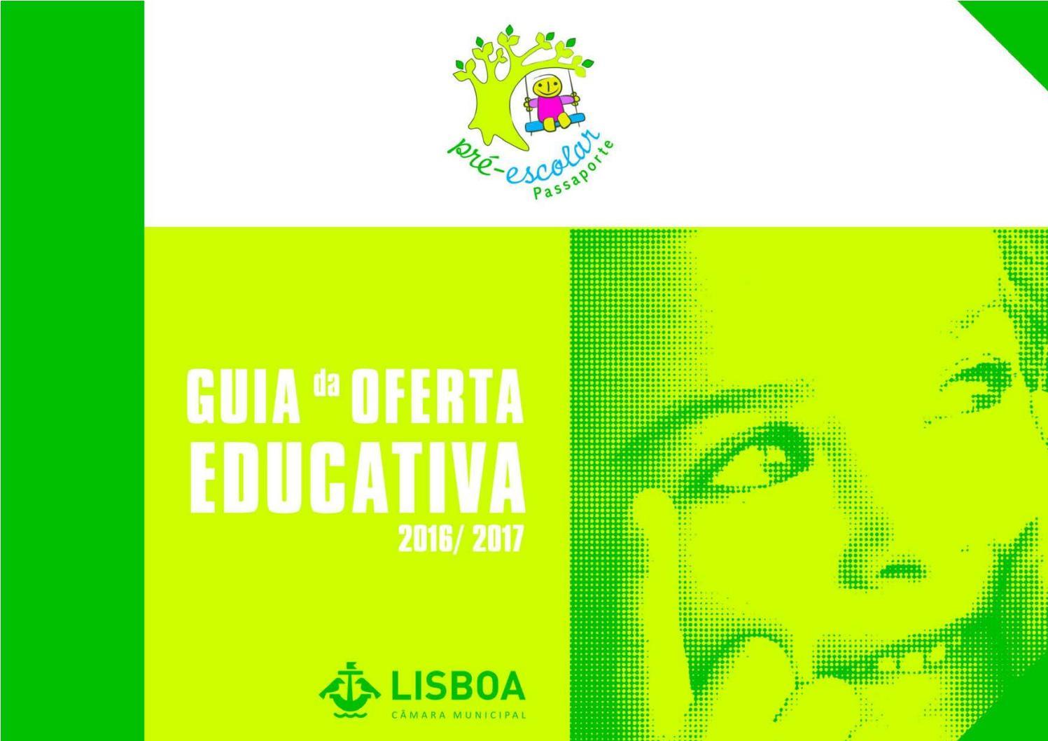 5fad221c9ed68 Guia de oferta educativa passaporte pré escolar 2016 2017 1.ª edição by  Câmara Municipal de Lisboa - issuu