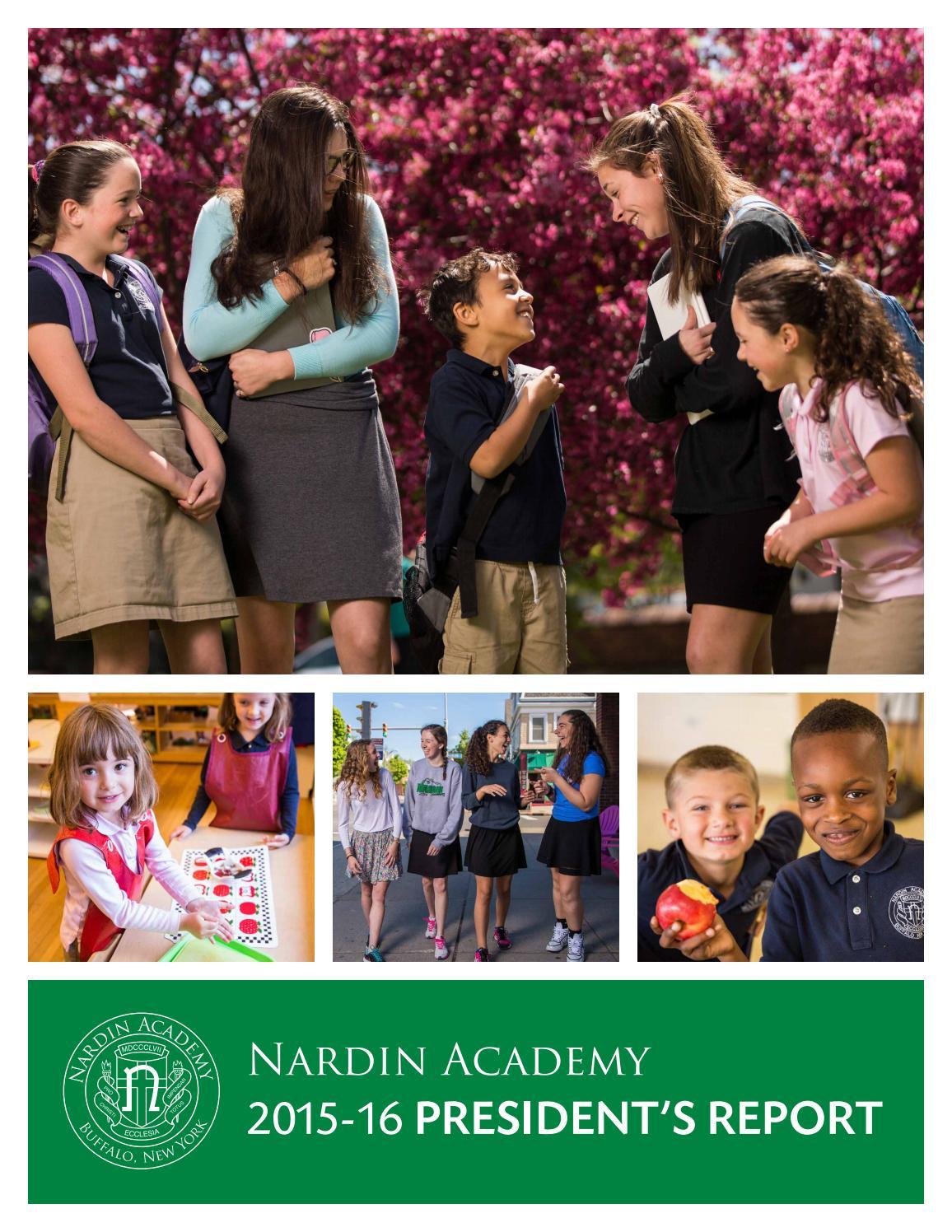 il migliore nuova alta qualità caldo-vendita President's Report 2015-16 by Nardin Academy - issuu