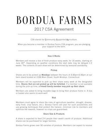 2017 Csa Agreement By Bordua Farms Llc Issuu