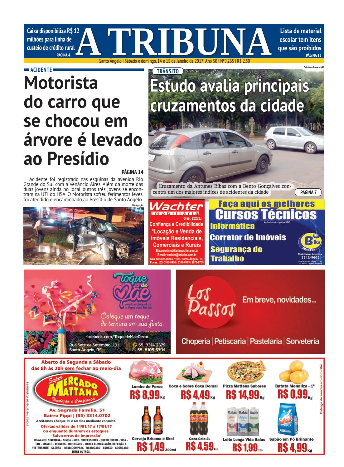 Jornal a tribuna 14 e 15 de janeiro de 2017 by Jornal A Tribuna - Santo  Ângelo - issuu 15025fec749c9