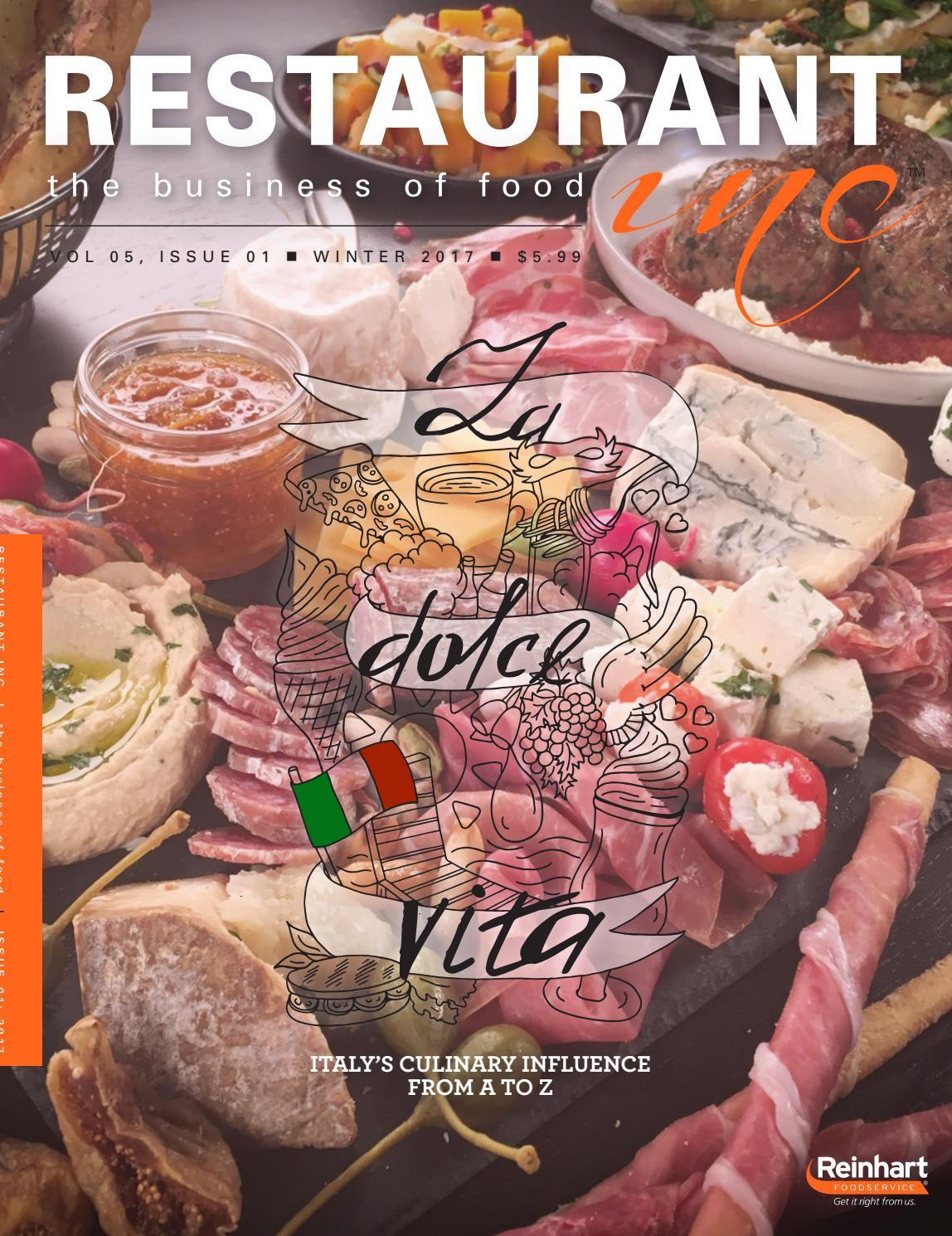 Capellini Al Forno Giada restaurant inc. winter 2017reinhart_publications - issuu