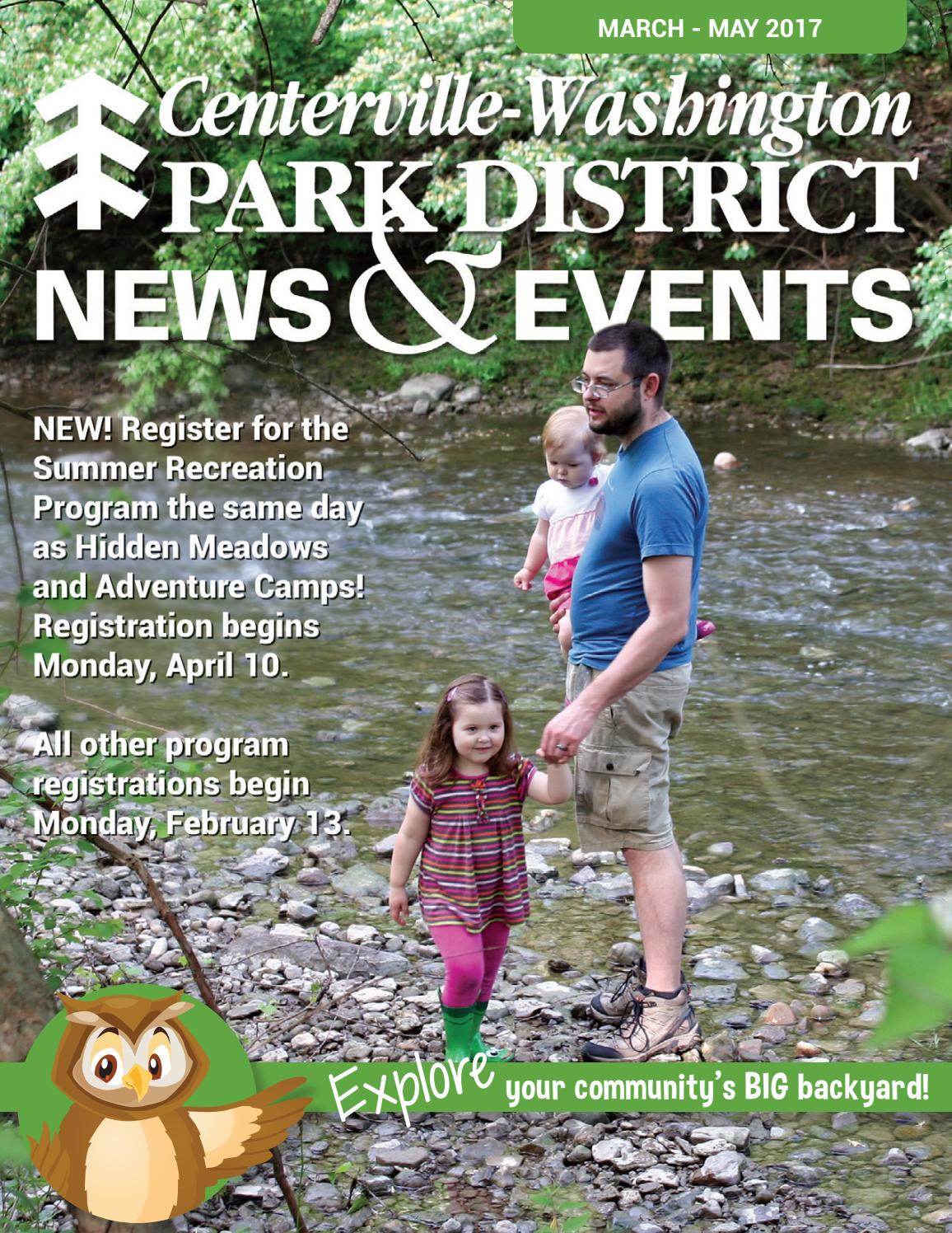 centerville washington park district spring 2017 news u0026 events by