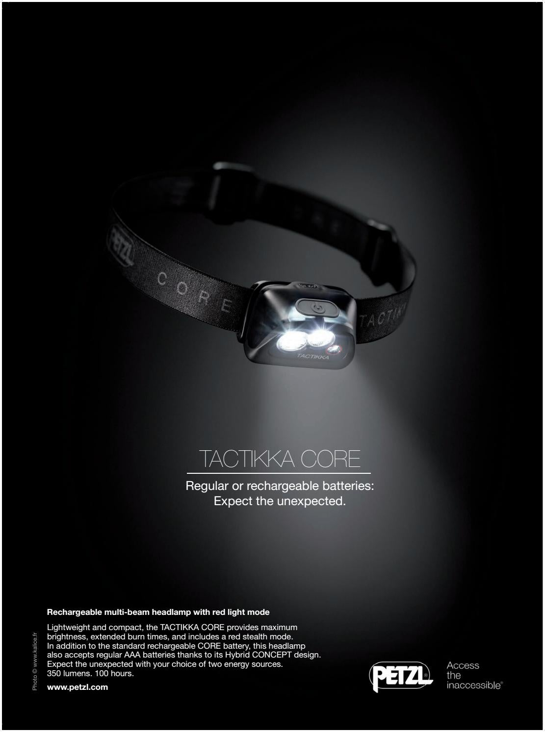 f3fd239b223 Lights, Lanterns & Torches Petzl TACTIKKA CORE Compact multi-beam headlamp  with rechargeable battery Head Torches