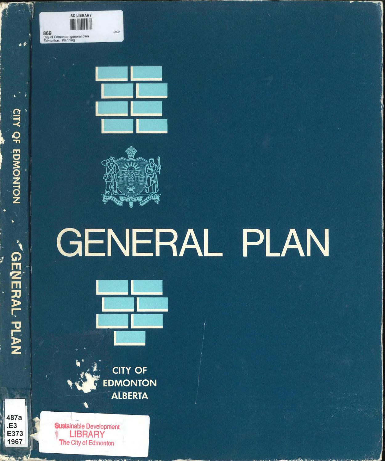 Edmonton (Alta ) - 1967 - City of Edmonton general plan