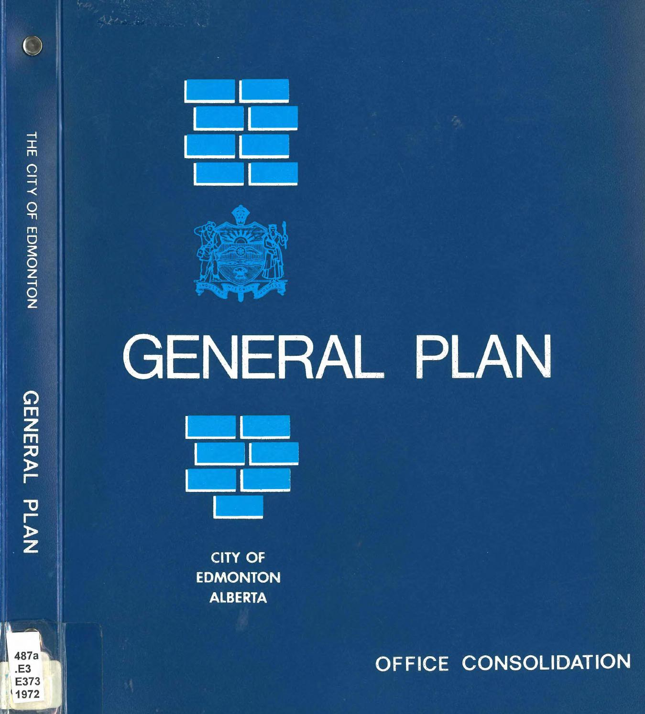 Edmonton (Alta ) - 1972 - City of Edmonton general plan