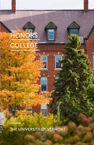 honors college uvm thesis