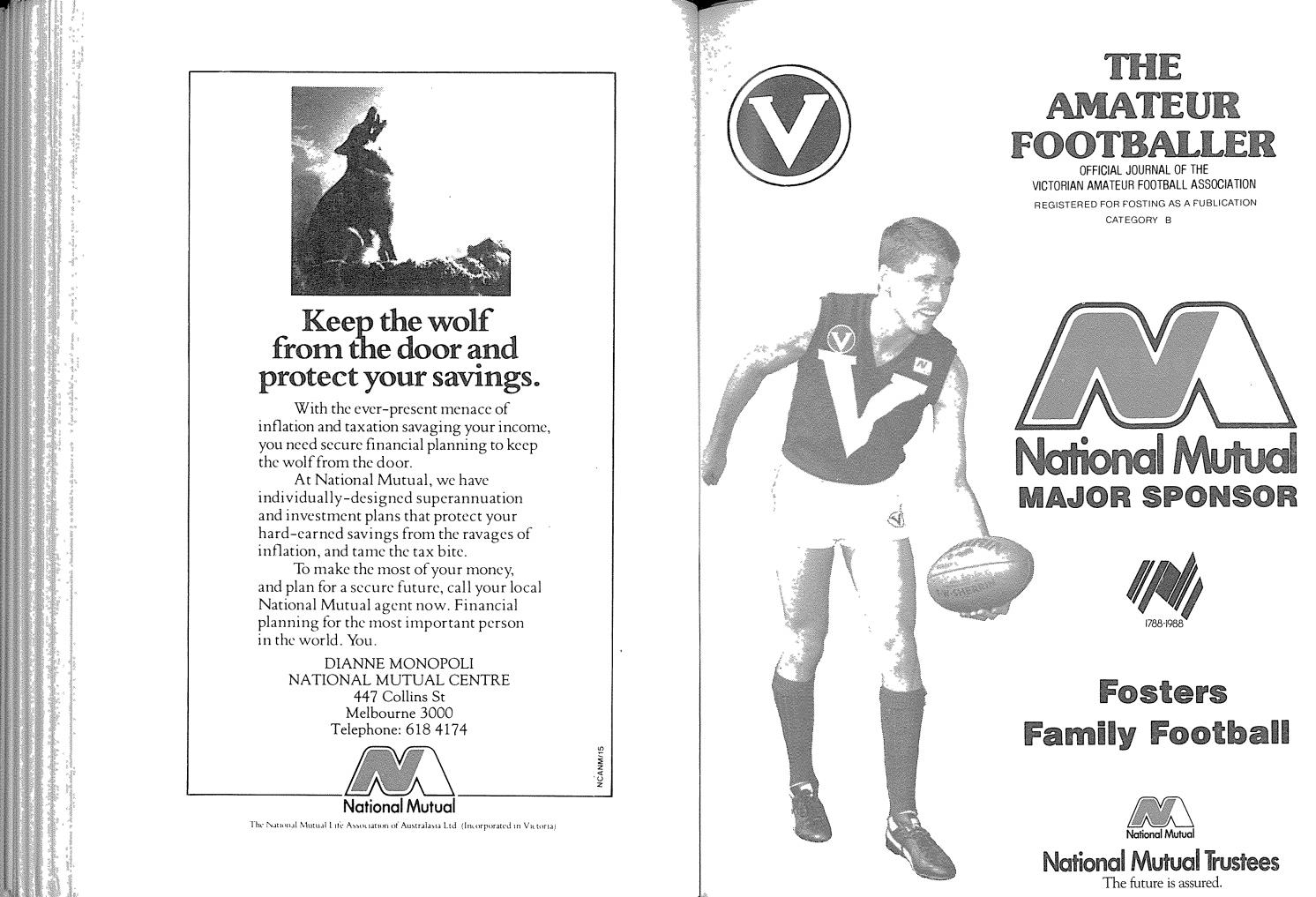 The Amateur Footballer, Week 14, 1988 by Andrew Leonard - issuu