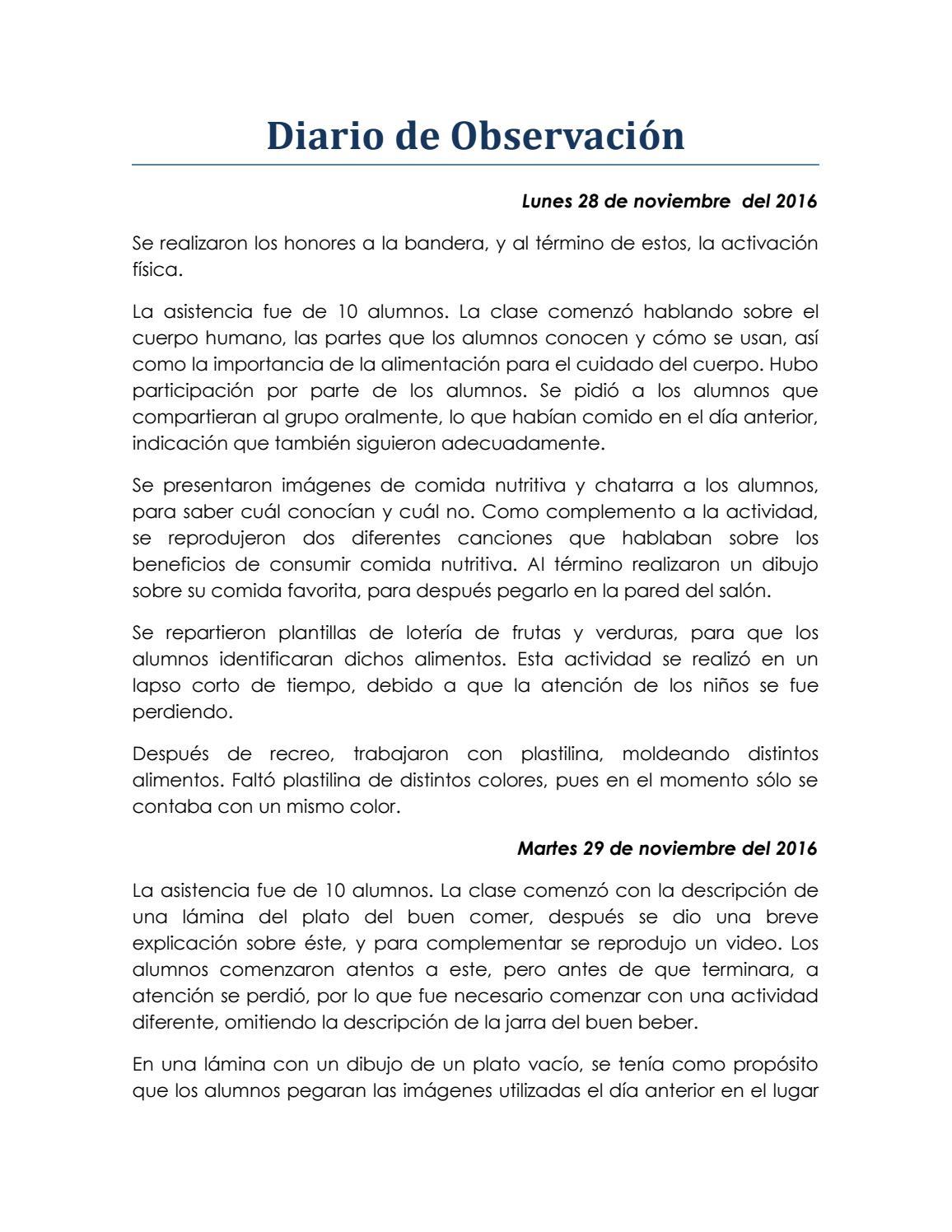 Diario De Observación By Consuelo Isabel Gama Issuu