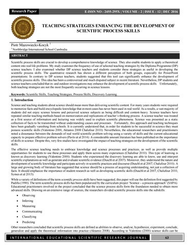 research paper on teaching strategies