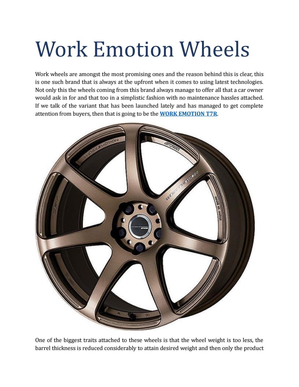 Work Emotion Wheels By Emotiont7r Issuu
